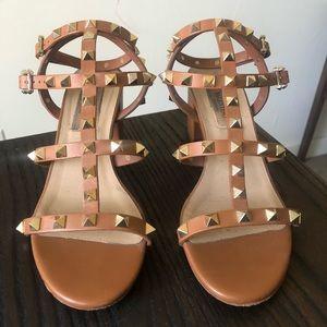Authentic Valentino Rockstud Block Heel Sandals
